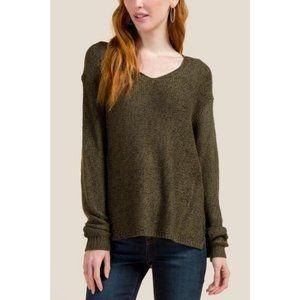 ARITZIA TALULA Angora Rabbit Hair Army Green Knit Sweater